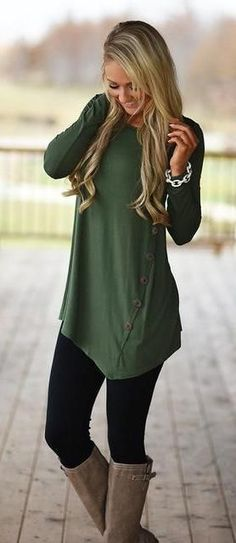 Cute As A Button Tunic Top