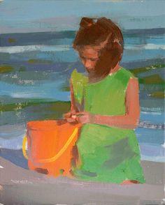 CUSTOM PORTRAIT child oil painting - 8 x 10