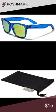 adc2ad93 Sunglasses NWT plus microfiber pouch With a see-through frame and color  mirror lenses,