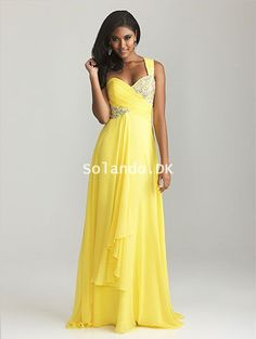 Prom dresses Trends One Shoulder Sequin Beading Long Night Moves Yellow  Prom Dresses 2015 cheap on sale a2d62f827c27
