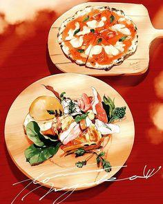 Cake Drawing, Food Drawing, Aesthetic Food, Food Art, Food Food, Food Illustrations, Cute Food, Coffee Time, Curry