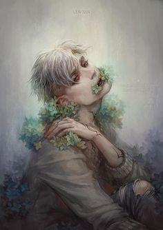 secrets by len-yan on DeviantArt Dark Fantasy Art, Fantasy Artwork, Portrait Art, Portraits, Psy Art, Arte Horror, Aesthetic Art, Art Inspo, Art Reference