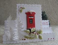 Good morning friends and visitors.Chilly frosty start this morning.Two Christmas cards for my box. hope I`m not rushing making Christmas cards this year, mind it`s not the maki Post Box Christmas Cards, Christmas Cards 2017, Christmas Card Crafts, Homemade Christmas Cards, Holiday Greeting Cards, Xmas Cards, Christmas Card Holders, Handmade Christmas, Christmas 2019