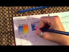 Tutoriel : dégradés aux crayons de couleur - YouTube