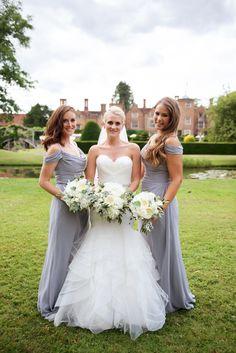 A fabulous white and gun metal themed Great Fosters Summer wedding. Bridesmaids, Bridesmaid Dresses, Wedding Dresses, Great Fosters, Best Wedding Photographers, Surrey, Wedding Shoot, Gray Dress, Luxury Wedding