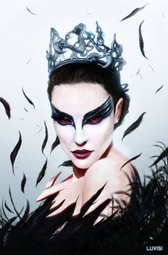 Fan Art of Black Swan Art♥ for fans of Black Swan 20819958 Fantasy Women, Fantasy Art, Helloween Make Up, Black Swan 2010, Inspiration Artistique, Movie Black, Digital Art Gallery, Game Character Design, Fanart