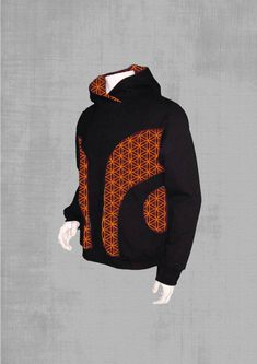 Jeffre Simp Mens Hooded Sweatshirt Abstract Wavy Psychedelic Pullover Fashion Hoodie Sweater