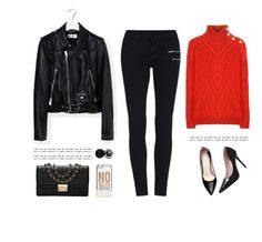 """""""..."""" by yexyka ❤ liked on Polyvore featuring Yves Saint Laurent, ASOS, Bobbi Brown Cosmetics and Balmain"""