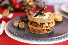 Receta: Milhojas de seitán con salsa de almendras Inmunox. Haz click en la foto para ir a la receta. #receta #bio #organic #vegan #recipes