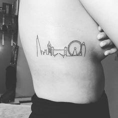 city skyline tattoos