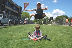 Might as well JUMP! Luke working on his jump shot, David Lee Roth style. #lacrosse #2023 #mamaroneck #westtwins