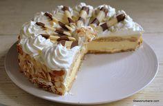 Malakoff cake - no bake vanilla diplomat cream Whipped Cream, Cheesecake, Romanian Recipes, Rome, Backen, Cheesecakes, Cheesecake Pie