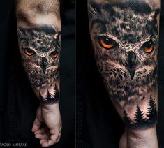 40 realistic owl tattoo designs for men – nocturnal bird ideas - Tattoo Designs Men Owl Forearm Tattoo, Mens Owl Tattoo, Tattoo Owl, Natur Tattoo Arm, Natur Tattoos, Nature Tattoo Sleeve, Sleeve Tattoos, Tattoo Nature, Owl Tattoo Design