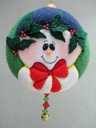 Resultado de imagen para MOGOLLAS DE NAVIDAD PASO A PASO Quilted Christmas Ornaments, Fabric Ornaments, Christmas Fabric, Primitive Christmas, Handmade Ornaments, Felt Ornaments, Felt Christmas, Christmas Balls, Christmas Projects