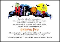 halloween party invitation wording samples