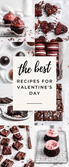 Valentine's Day Dessert Recipes (Broma Bakery) - therezepte sites Valentines Bakery, Valentines Day Deserts, Valentines Day Cookie Recipe, Valentines Recipes, Valentine Cookies, Mini Dessert Recipes, Sweet Recipes, Broma Bakery, Easy Chocolate Desserts