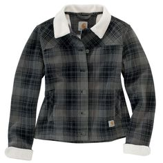 Women s Cedar Sherpa Jacket - The Brown Duck Plaid Jacket e797cdcaa