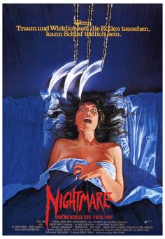 A Nightmare on Elm Street German Poster :: Posters :: Posters & Art :: House of Mysterious Secrets - Specializing in Horror Merchandise & Collectibles Horror Movie Posters, Horror Icons, Movie Poster Art, Horror Films, Film Posters, Horror Art, Mary Lambert, Freddy Krueger, Home Entertainment
