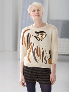 Abstracted Lion Pullover free