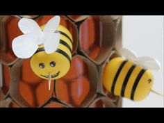 Kids DIY Projects Ideas: How to Make a Cute Honeybee in Honeycomb -Recycled Bottles Crafts Diy Projects For Your Room, Recycled Bottle Crafts, Diy For Kids, Crafts For Kids, Bee Coloring Pages, Giant Lollipops, Candy Land Theme, Dad Crafts, Cute Bee