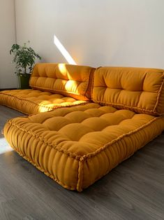 Floor Couch, Floor Cushions, Floor Cushion Couch, Mattress On Floor, Couch Cushions, Daybed Mattress, Shabby Chic Sofa, Living Room Decor, Bedroom Decor