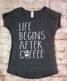 Life Begins after Coffee Tee (Ladies) – Rose Gold Vintage
