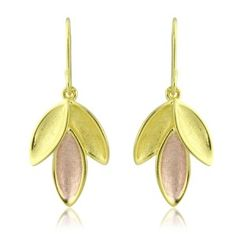 18 carat yellow and rose gold vermeil earrings.