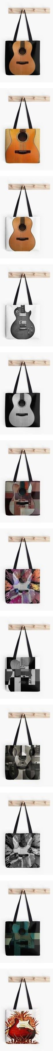 Guitar Totes by Eric Rasmussen by christy-leigh-1 on Polyvore featuring totes, home, home decor, wall art, photography wall art, metal posters, galaxy poster, photography posters, metal wall art and bags