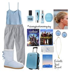 """Cinderella Travel"" by disneyfashioneveryday ❤ liked on Polyvore featuring H&M, UGG Australia, RGB, Eos, Clinique, Lonna & Lilly and Disney Couture"