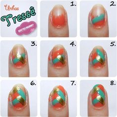 Get the design in 8 simple steps!  Visit page for more awesome makeup and nail art! http://iflmakeup.com/explore/nails