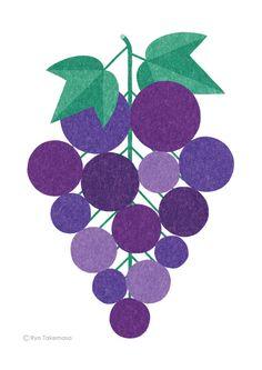 Grapes illustration Aquafina FlavorSplash on Behance
