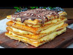 """Dort """"NAPOLEON"""" z listového těsta? Objevte nejrychlejší recept! - YouTube Food Cakes"""