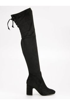 Čierne čižmy na stĺpiku Super Me Knee Boots, Platform, Shoes, Fashion, Wedge, Zapatos, Moda, Shoes Outlet, La Mode