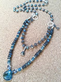 double dare-labradorite & london bleu double par sweetassjewelry
