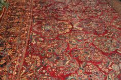 """Room Size Persian Sarouk Rug 10'4"""" by 17'11"""""""