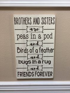 Brother & Sister Wood Sign