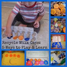5 Fun Uses for Recycled Milk Caps from The Good Long Road