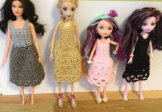From left to right: Barbie, Fairy Tale High, Ever After High, and Monster High. (What's with all the Highs?)