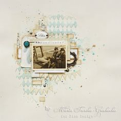 Beige and blue vintage layout