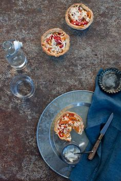 Pepper and Pecorino Tartlets by Little Upside Down Cake