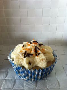 Cupcake Yoghurt-banaan #cupcake #yoghurt #banaan #fruit
