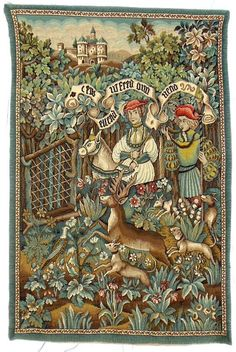 Huge  French Tapestry Superb Hand Finished by LaFrenchRevolution