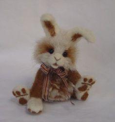 OOAK Needle Felted Artist Bear Bunny Rabbit Named Butterscotch by Denise Graham   eBay
