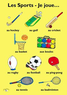 Chapter A simple way to identify French vocabulary for sports French Language Lessons, French Language Learning, French Lessons, German Language, Spanish Lessons, Japanese Language, Spanish Language, French Flashcards, French Worksheets