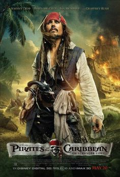 Pirates of the Caribbean 4 - On stranger tides Johnny Depp! Johnny Depp as Captain Jack Sparrow Penelope Cruz as Angelica Ian Mcshane as B. All Movies, Series Movies, Great Movies, Disney Movies, Movies To Watch, Movies Online, Awesome Movies, Movie Characters, Horror Movies