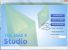 STATUS untested - by orangemittens - tutorial how to make a standalone recolor using Sims 4 Studio
