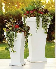 """At 40"""" tall, our commercial-grade Bordeaux Planter sits perfect on a patio or poolside, accommodating your largest plants in its handsomely tapered frame."""