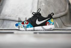Nike Roshe Run Black White The Little Mermaid Movie by NYCustoms