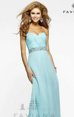 Faviana Dress! We have this in a size 8 in the pictures color!