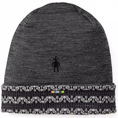 f0fd3f99898 The Smartwool Pattern Cuffed Beanie is a double layer beanie hat made from  Interlock Knit Merino Wool. The Pattern Cuffed Beanie helps wick moisture  away as ...